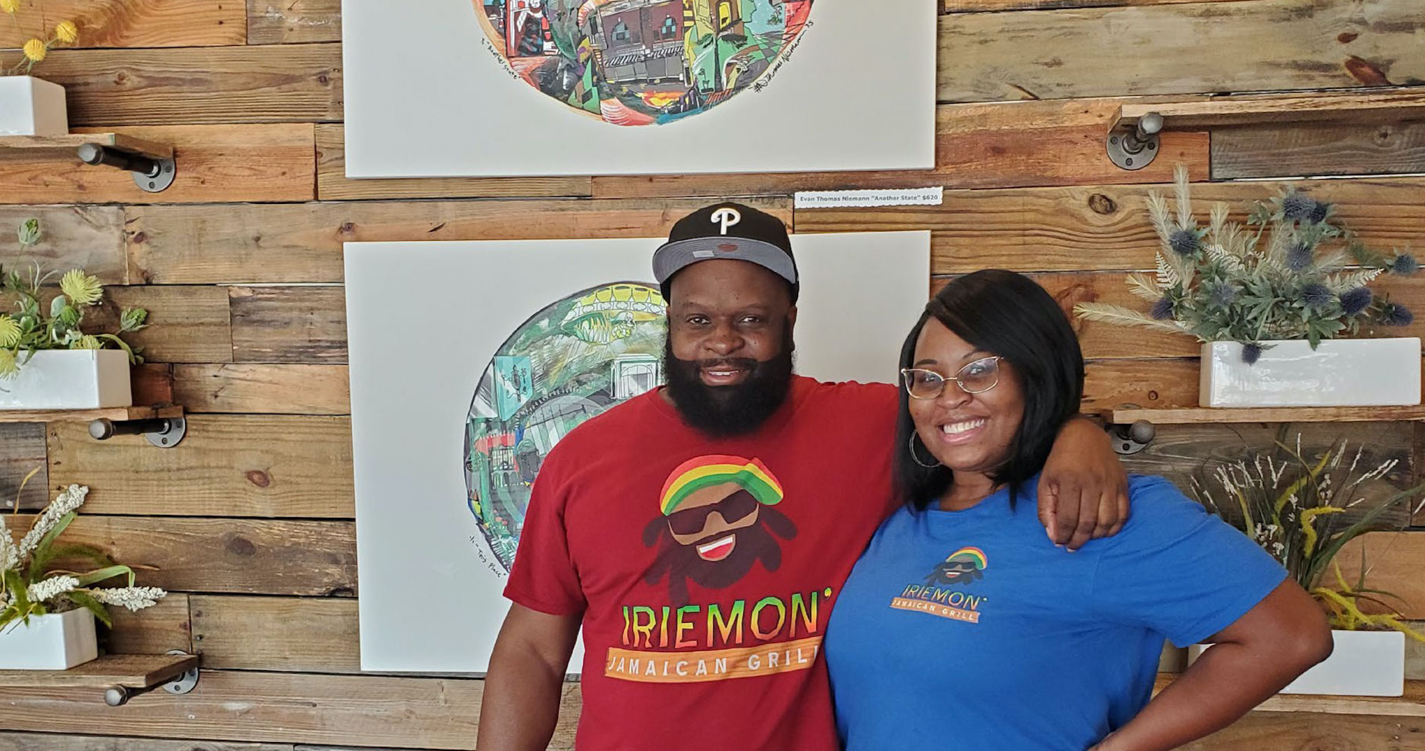 Chef Dean Hudson and Melissa Grannum of Irie Mon Jamaican Grill
