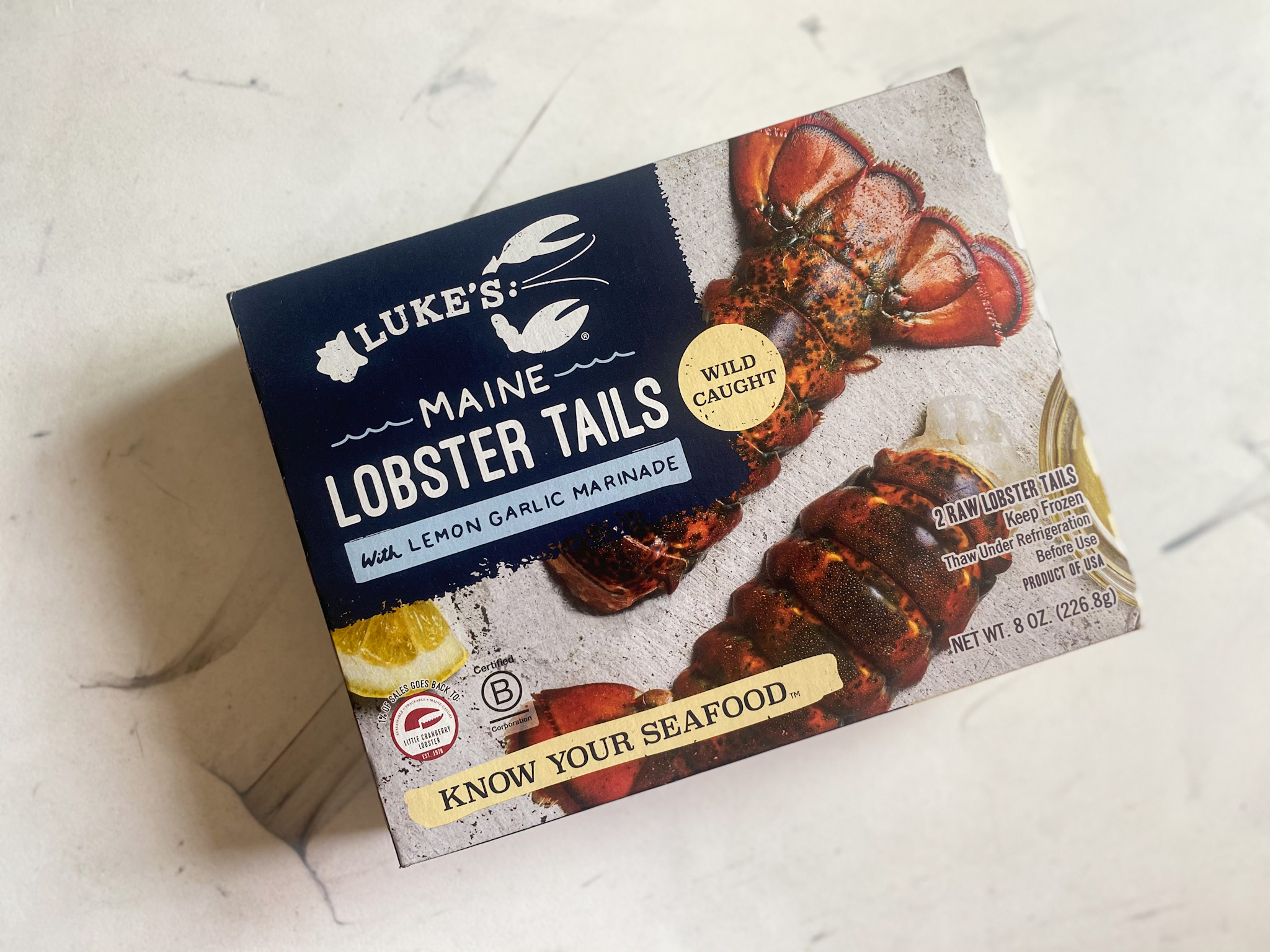 Luke's Lobster from the frozen section at Rollin' Oats
