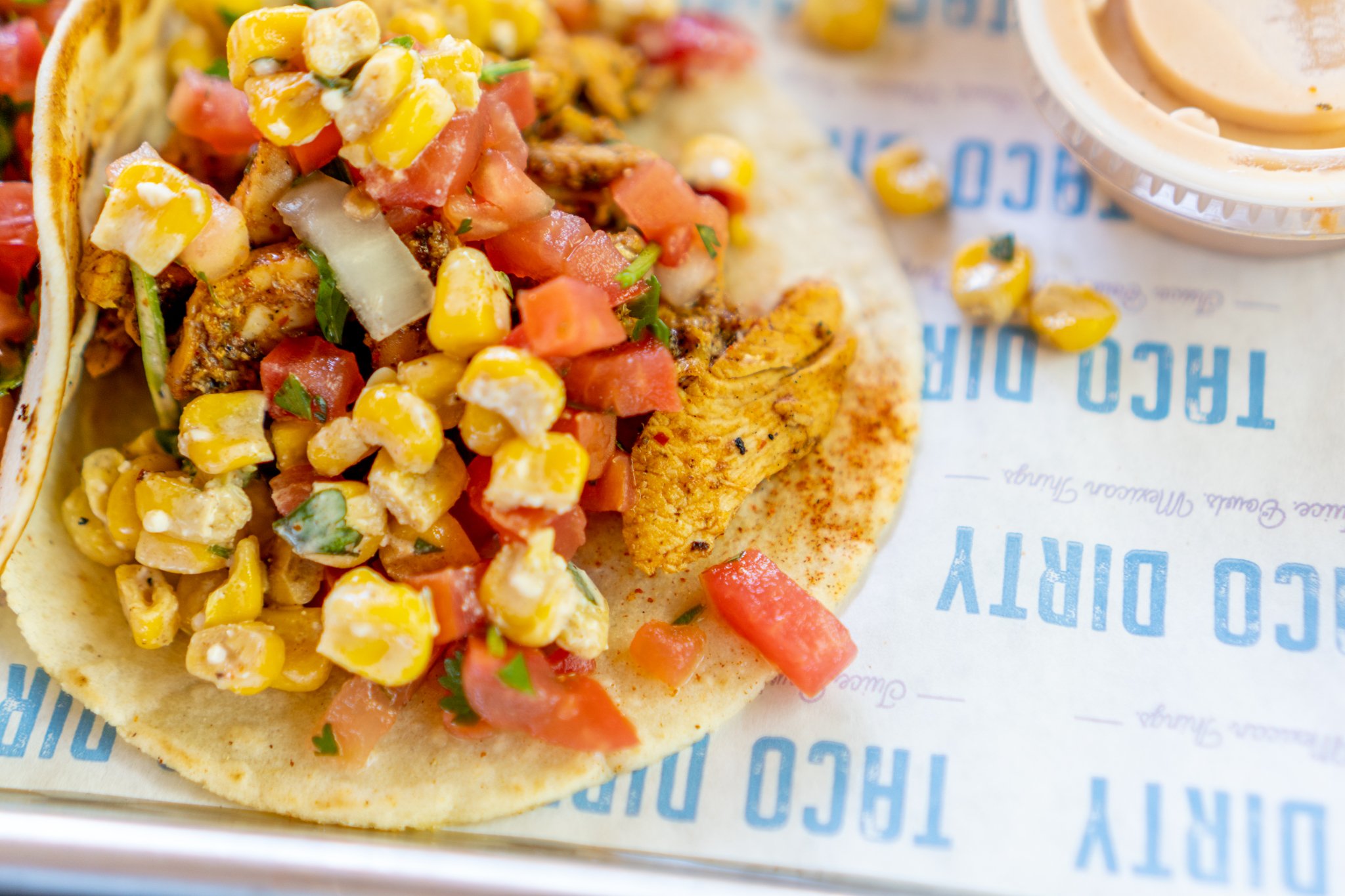 On The Fly Taco Dirty Chicken Taco