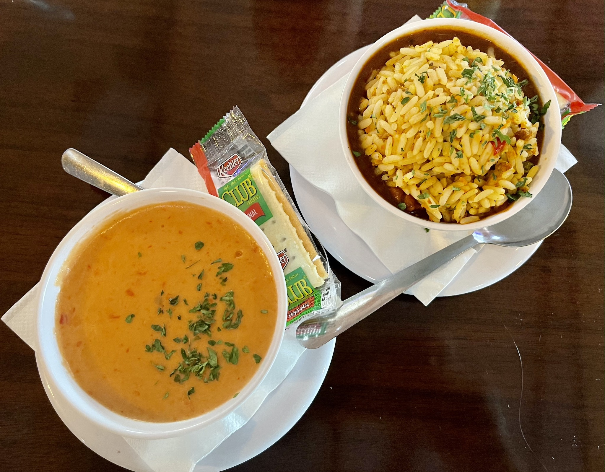 Shrimpys Shrimp and Lobster Bisque and Louisiana Seafood Gumbo