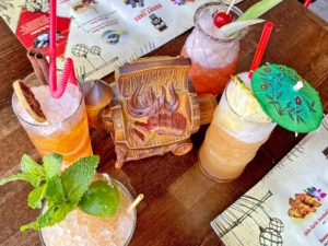 Tiki Drinks at Burnt Ends Tiki Bar