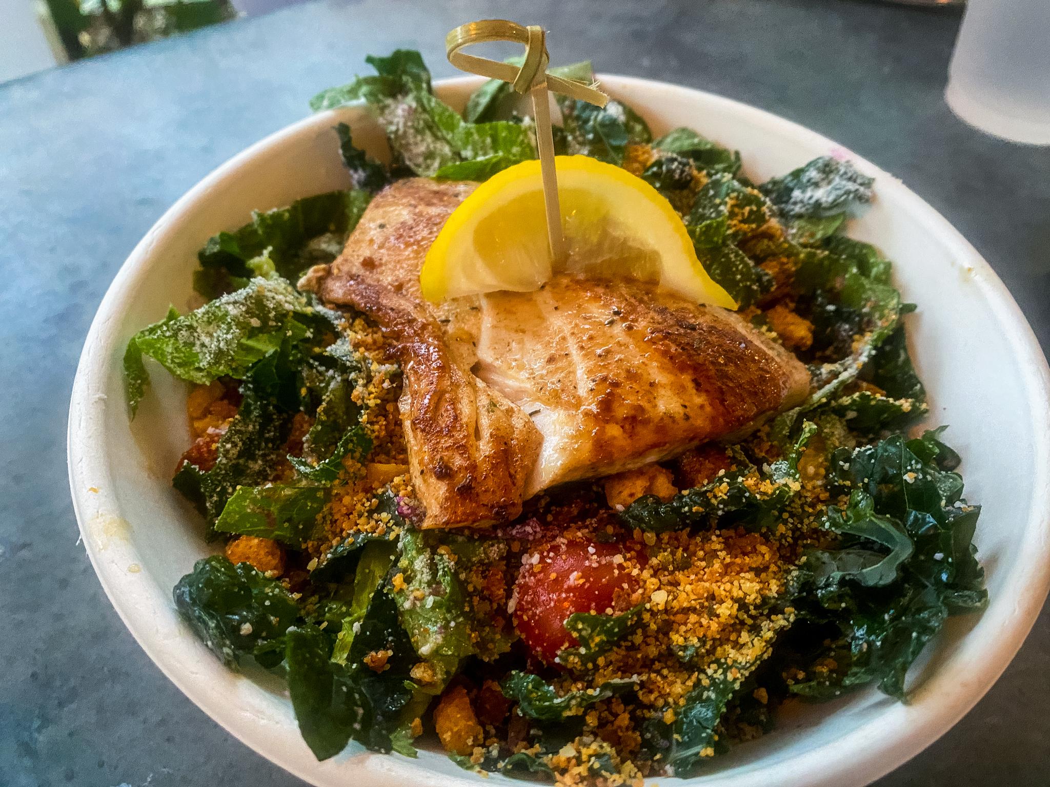 Trophy Fish Mahi Mahi as a Salad