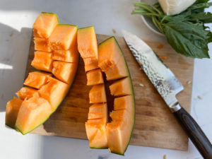 Hasselback Cantaloupe