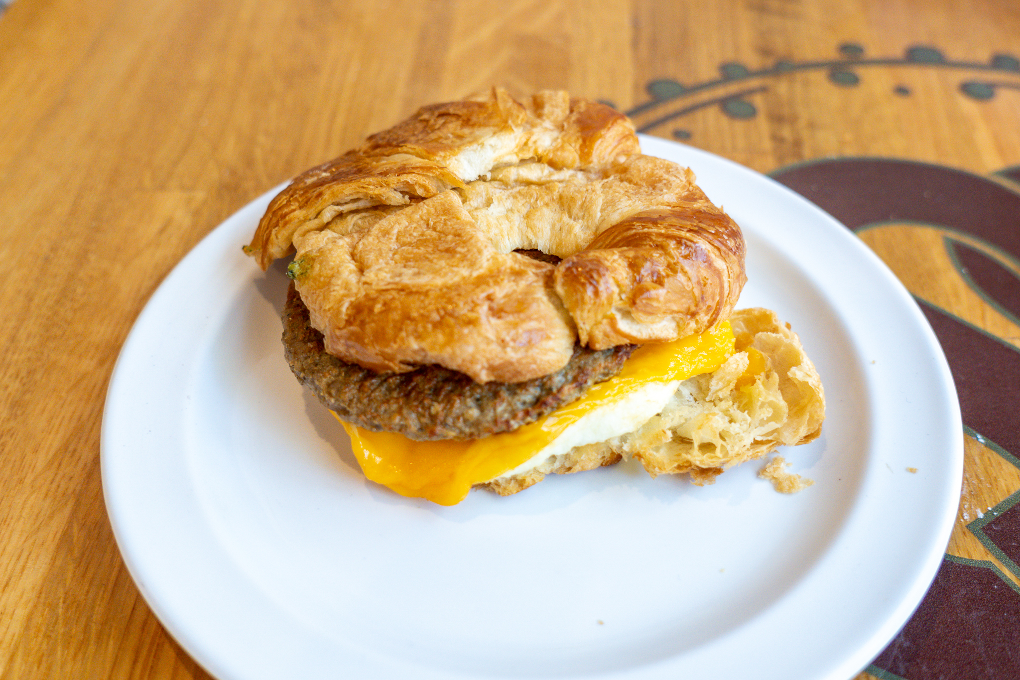 Sorrento Sweets The Sausage & Cheddar Breakfast Sandwich