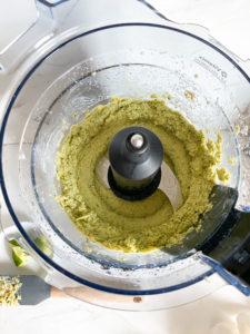 Blended hummus mixture