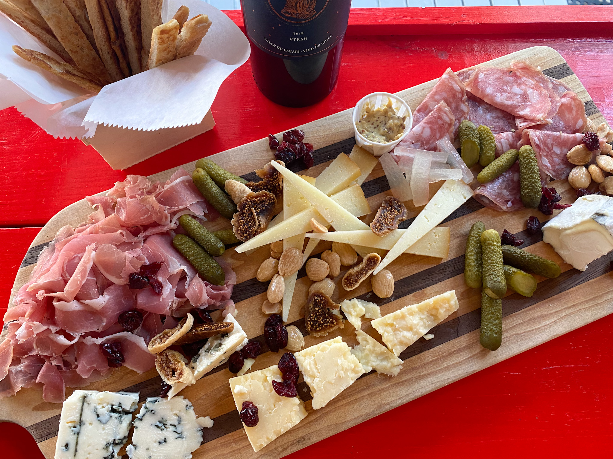 Chef's choice cheese and charcuterie board