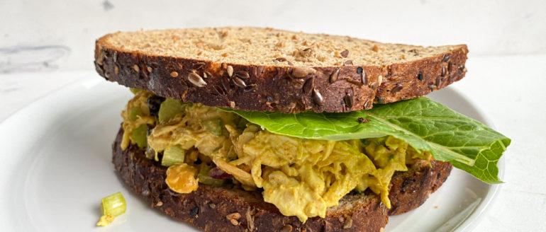 Curry Chicken Salad and Avocado Hummus Recipe