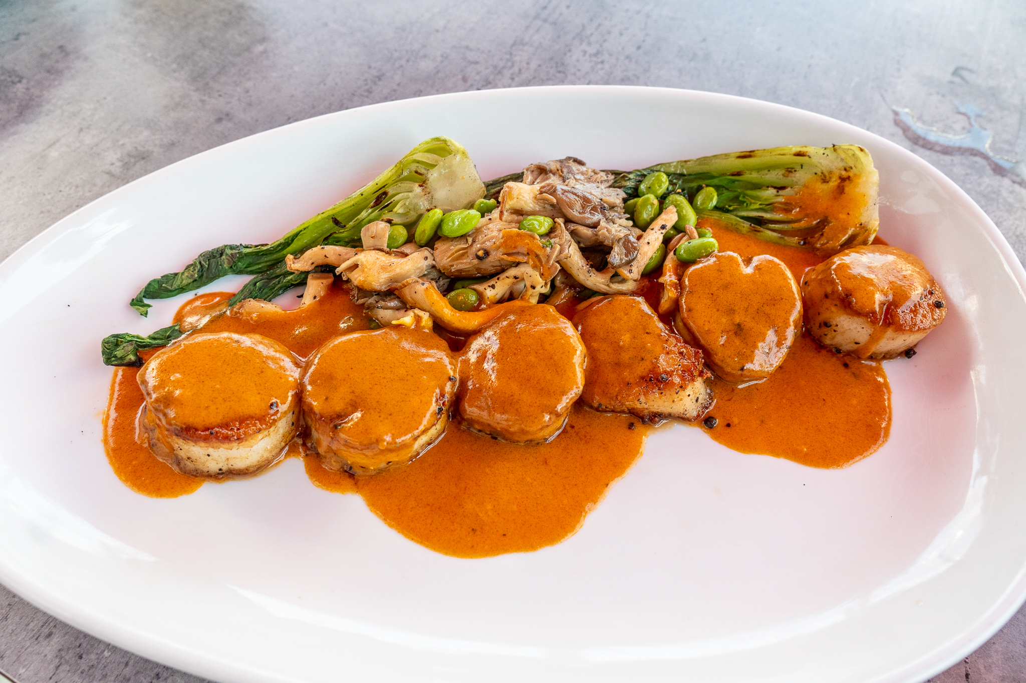 82Degrees Red Curry Scallops