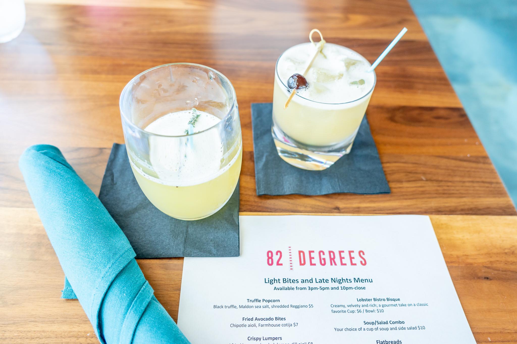 82Degrees Signature Cocktails inside