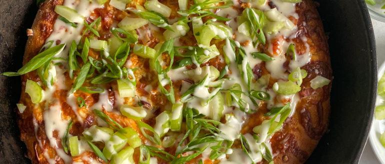 Cast Iron Skillet Buffalo Chicken Pizza Recipe