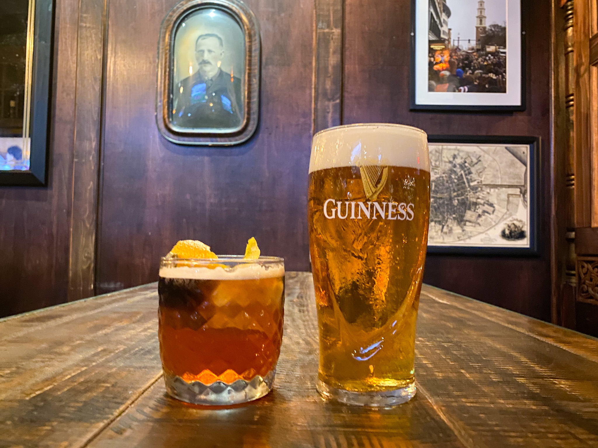 Guinness Blonde and Olde Fashioned