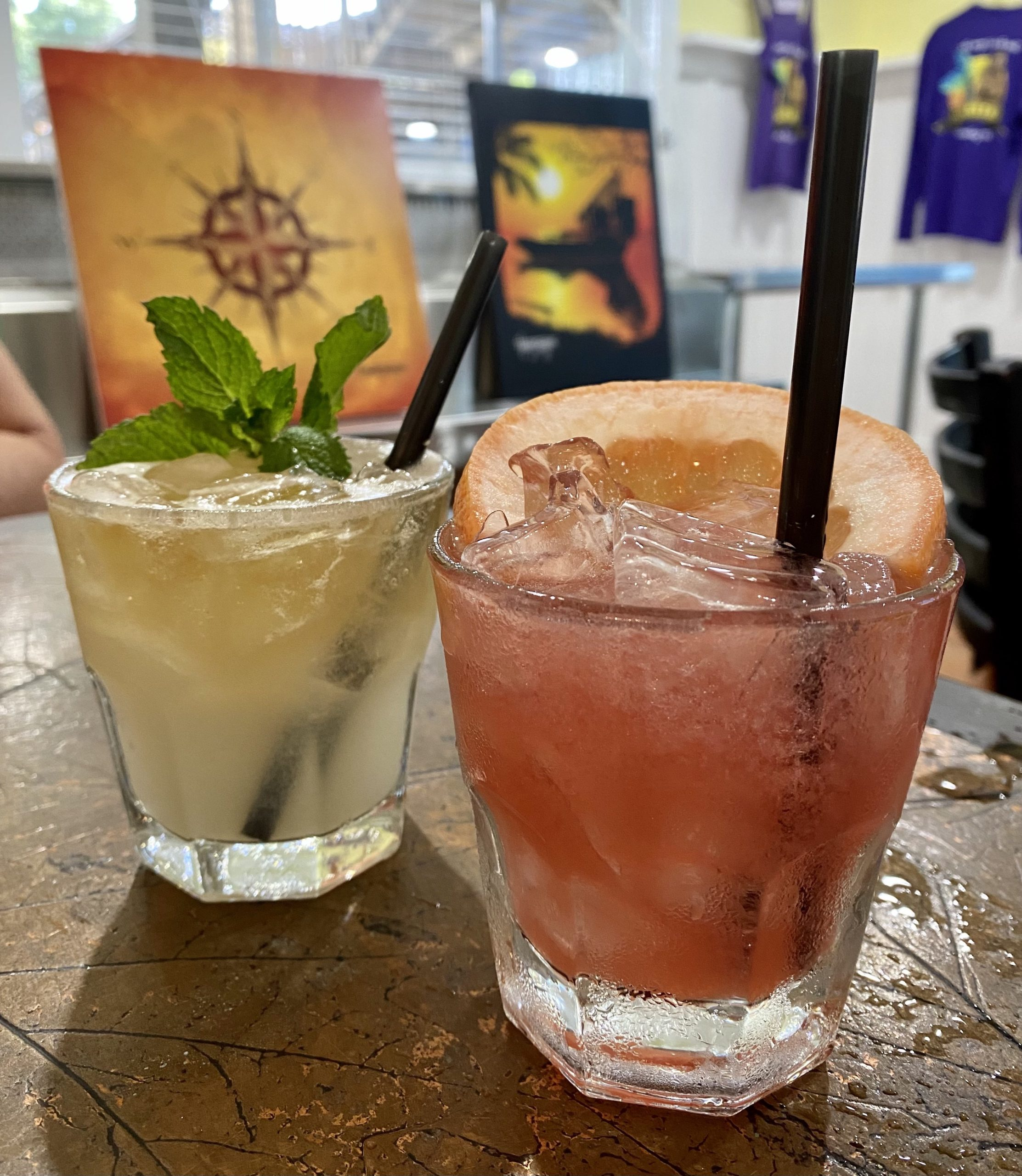 Mullet's Mai Tai and No Diablo Cocktails