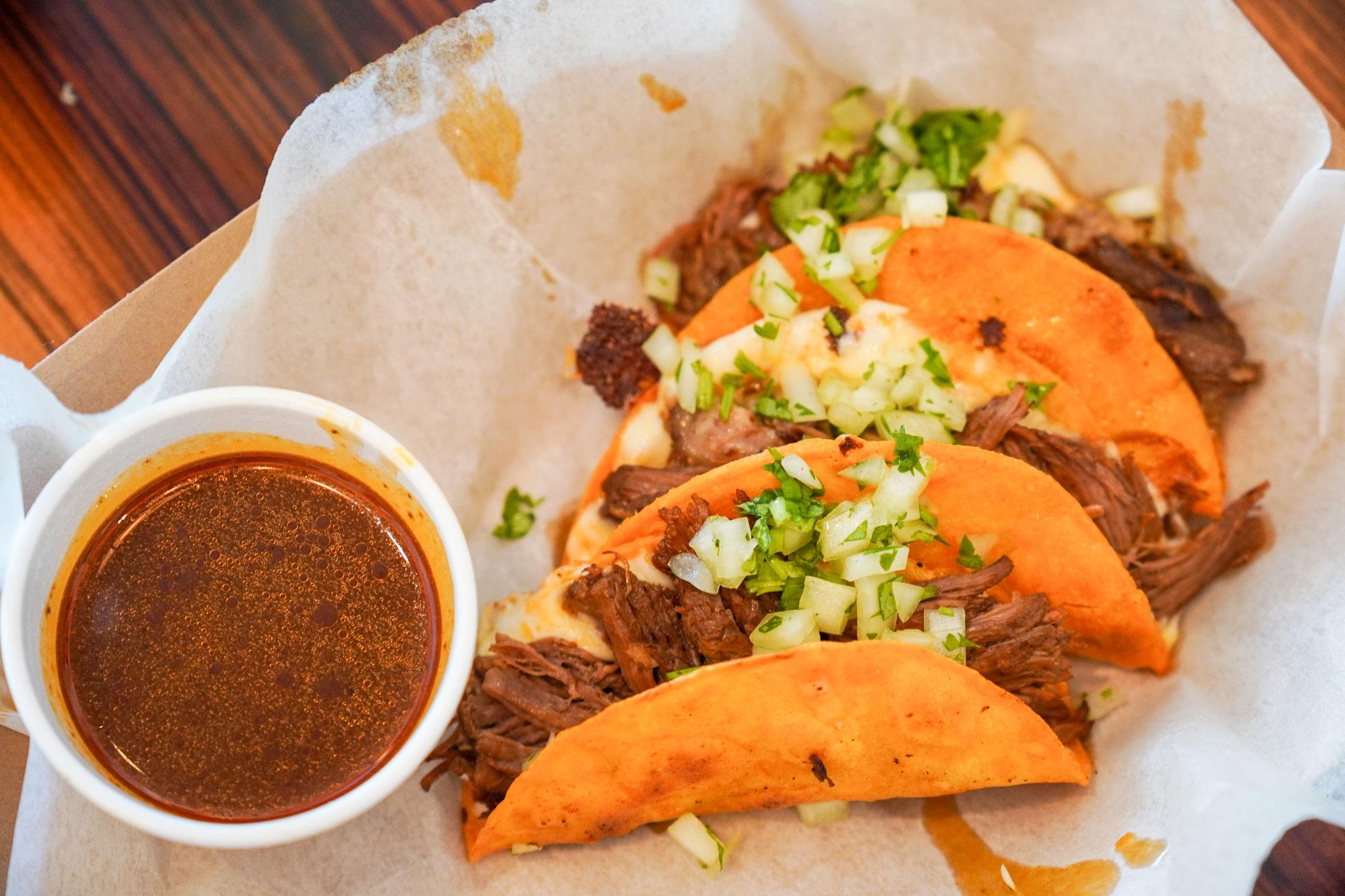 Quesabirria Tacos (Photo by Haley Haman)