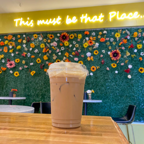 Beans & Barlour Iced Latte with White Chocolate Mocha