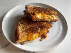Grilled Cheddar Cheese, Apple & Onion Sandwich